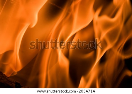 When Looking into fire everybody sees own scenes created by imagination and the current mood - stock photo