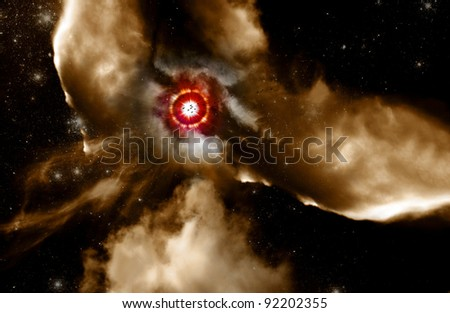 When Old Worlds Die New Worlds Are Born This Is Life In Creation From The Star Dust Of Supernova - stock photo