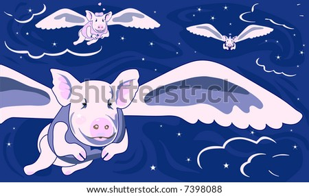When Pigs Fly is original artwork with a lot to say!