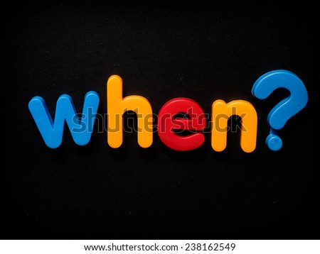 When question - stock photo