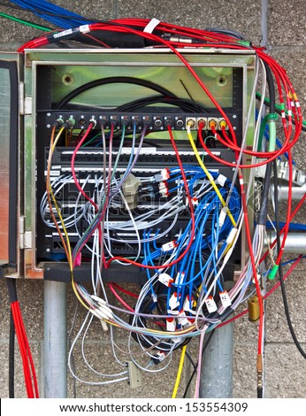 Where is the wiring diagram? This box has many more video/audio wires than the conduits can handle.