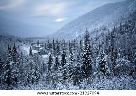 Where Santa Claus Must Live, Kenai Peninsula, Alaska - stock photo