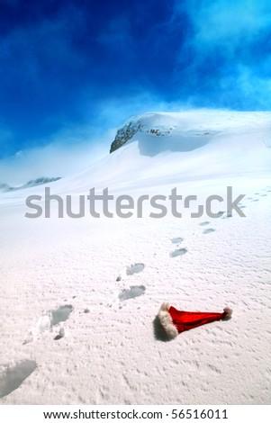where Santa lives - stock photo