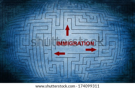 Where to immigrate - stock photo