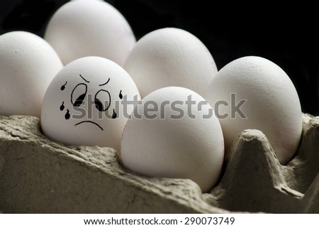 Which one to choose - Sweating Egg - stock photo