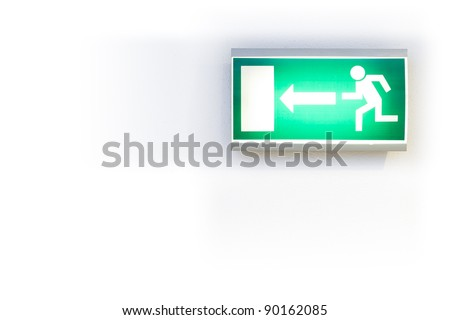 Which way for the exit... - stock photo