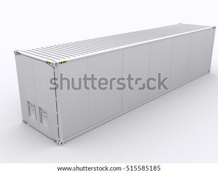 Whiet container 3d rendering