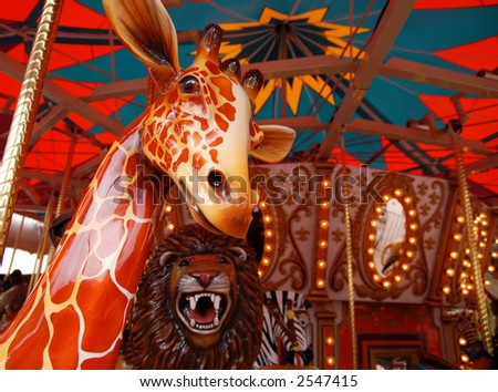 Whimsical Carousel - stock photo