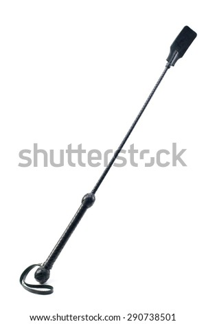 Whip for training. fetish, isolated on a white background