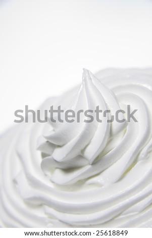Whipped cream - stock photo