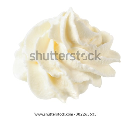 whipped cream isolated