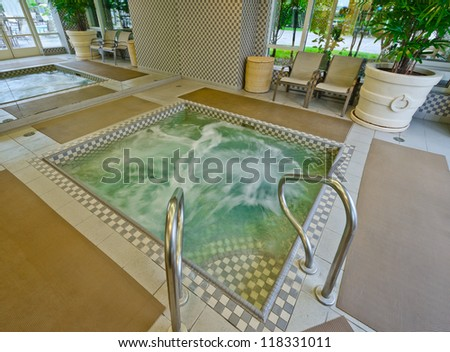 Whirlpool at luxury five stars hotel in Vancouver, Canada. - stock photo