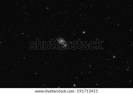Whirlpool Galaxy in star field - stock photo