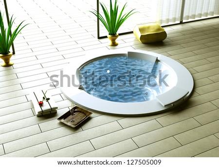 whirlpool inside outside - stock photo