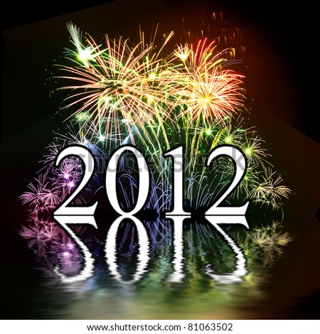 Whish card for 2012 - stock photo