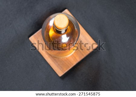 Whiskey bottle - stock photo