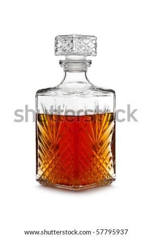 Whiskey decanter - stock photo