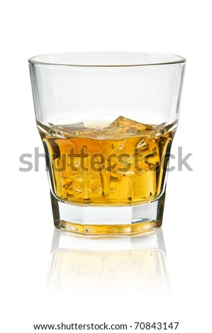 whiskey glass isolated on white