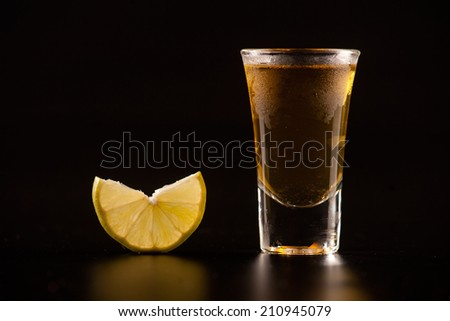 whiskey on the black background - stock photo