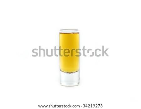 whiskey shot - stock photo