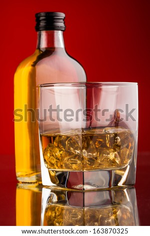 whisky bottle - stock photo