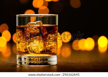 Whisky, Cocktail, Alcohol. - stock photo