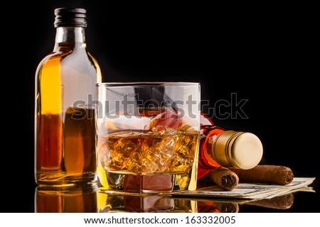 whisky composition - stock photo