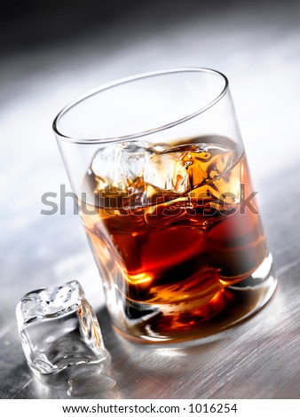 whisky glass - stock photo