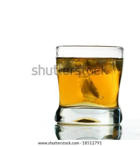 whisky splash - stock photo