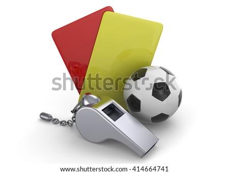 Whistle - 3D - stock photo