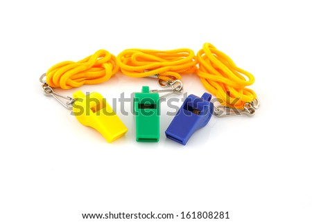 whistle isolated on a white background. - stock photo