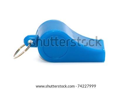whistle on white background - stock photo