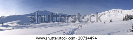 Whistler Ski Resort Panorama - stock photo