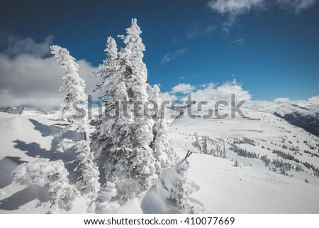 Whistler ski resort scenery - stock photo