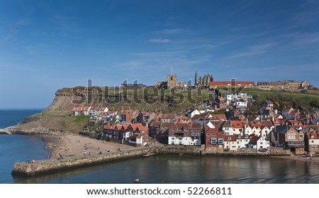 Whitby harbor and Town