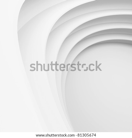 White Abstract Architecture Construction - stock photo