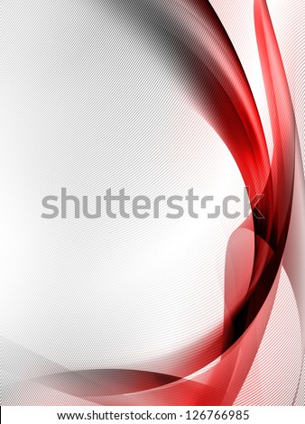white abstract background with red stripes and subtle grid texture pattern - stock photo