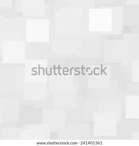 white abstract background with squares - stock photo
