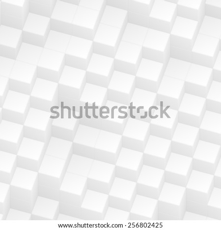 white abstract cubes - stock photo