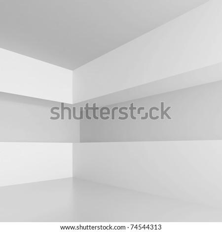 White Abstract Interior - stock photo