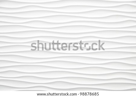 White Abstract wave Background with linen texture - stock photo