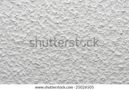 White acoustic popcorn ceiling texture - stock photo
