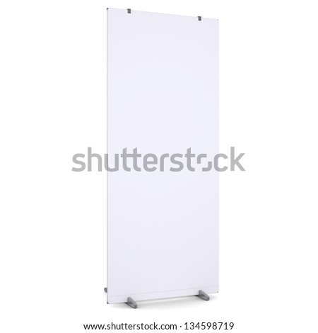 White advertising billboard. Isolated render on a white background