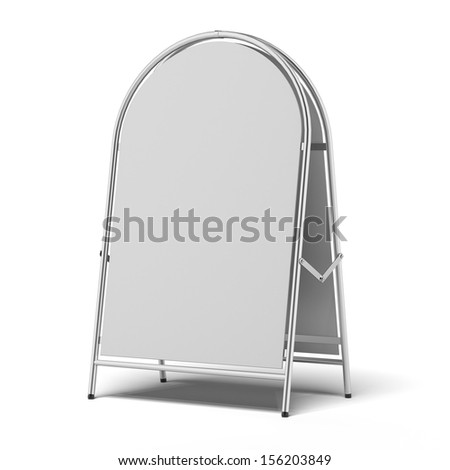 white advertising stand - stock photo