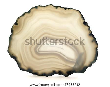 White agate - stock photo