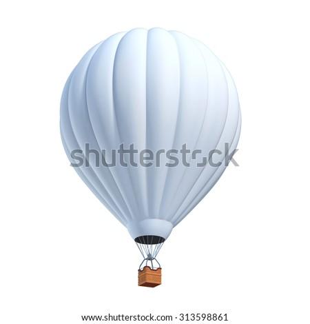 white air balloon 3d illustration - stock photo