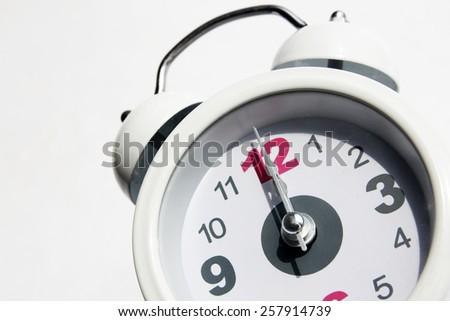 White analog clock - stock photo