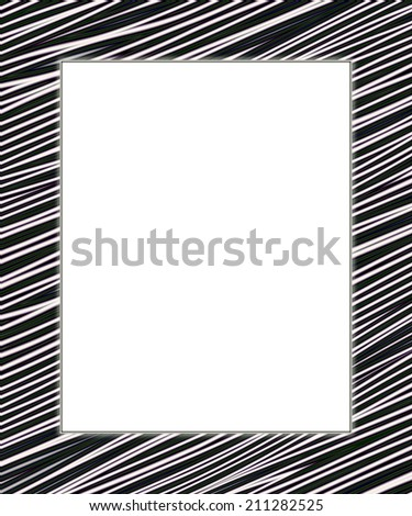 White and black digital frame. Add your text in the white field. - stock photo