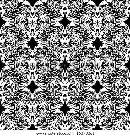 white and black pen and ink floral design ideal background