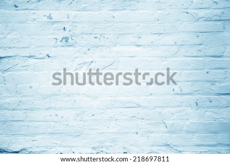 White and blue paint wall background or texture - stock photo